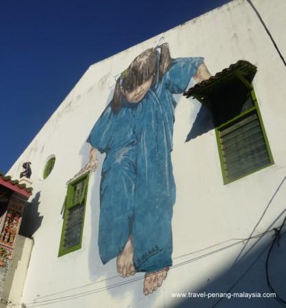 Penang Street Art Kungfu Girl