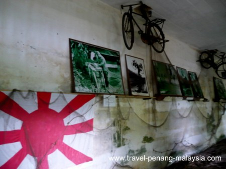 Japanese army bicycle at the war museum in Penang