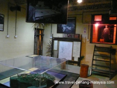 photo of the underground logistic offices at the Penang war museum