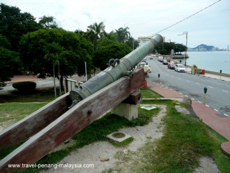 photo of the Sri Rambai Cannon at the Fort
