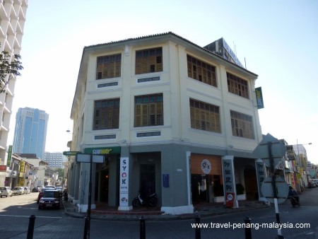 photo of the front of the Syok at Chulia Hostel Penang