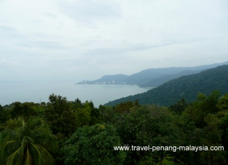 View from the top of Muka Head Lighthouse Penang National Park
