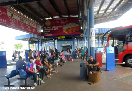 waiting area in Butterworth bus station